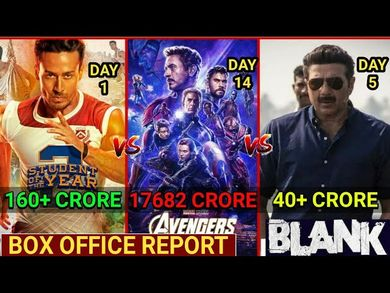 Box Office Collection of Avengers Endgame,Blank Box Office Collection, Student Of the year 2 1st Day
